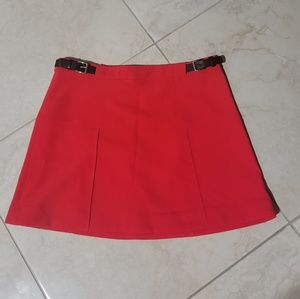 Express Red Mini Skirt